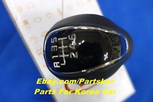 For 2014-2015 Kia Forte K3 Leather Glossy 6TH MANUAL Gear Shift Knob Genuine