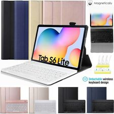 Bluetooth Keyboard Leather Case For Samsung Galaxy Tab S6 Lite 10.4 SM-P610 P615