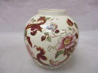 Mason's Ironstone England Mandalay Red Jar Asian Flowers Vase