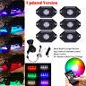 6X Pod RGB LED Rock Off-Road Under Wheel Light Wireless Bluetooth & Manual Modes