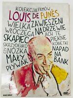 Kolekcja filmów Louis de Funes DVD 7 Discs Box Set in French / Polish Polski