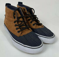 VANS Shoes Mens Sz 5.5 Women Sz 7 Brown Suede Hightops 721454 Scotch Guard