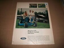 """1967 FORD """"LGT"""" LAWN TRACTOR  ORIGINAL VINTAGE PRINT AD CMYSTORE4MORE"""