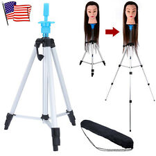 """55"""" Adjustable Tripod Stand Salon Hair Cosmetology Mannequin Training Head Hold"""