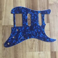 NEW Blue Pearloid HSS Stratocaster PICKGUARD for Fender Strat Humbucker Pickup