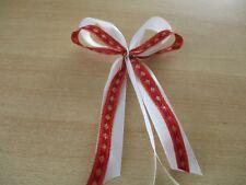 4 Deko Schleifen -Wei�Ÿ /  Rot / Gold - Weihnachtsbaum - Adventskranz - Geschenke