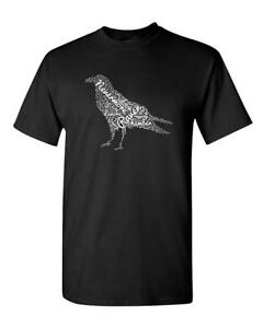 The Raven Edgar Allen Poe Poem English Poetry Tee Adult Mens Graphic T-Shirt