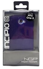 New Incipio NGP Impact Resistant Semi-Rigid Snap On Case For HTC One S Purple