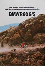Prospetto MOTO BMW r80gs ii/80 INGLESE-ENGLISH