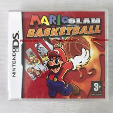 Nintendo DS mario slam basketball (2007), NEW & FACTORY SEALED, fabrication défaut