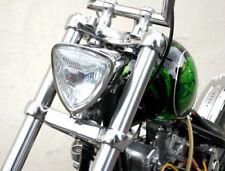 TRIANGLE HEAD LIGHT RETRO 12 VOLT HIGH/LOW HARLEY TRIUMPH XS650 BOBBER CHOPPER