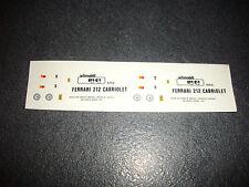 DECAL HIFI  FERRARI 212 CABRIOLET  NEUF NO MERI TAMEO BBR