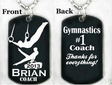 BOYS GYMNASTICS COACH - Dog tag Necklace/Keychain + FREE ENGRAVING