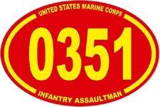 3 X 4.5 UNITED STATES MARINE CORPS USMC 0351 INFANTRY ASSAULTMAN  EURO STICKER