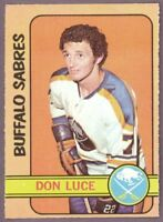 1972 73 OPC O PEE CHEE HOCKEY 95 DON LUCE SABRES NM