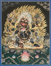 "Vajrapani Tibetan Thangka Painting 20"" W x 26"" H Hand Paint Nepal"