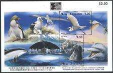 Mint S/S Fauna, Heron,Dolphin,Seal,Whale 1996 from New Zealand   avdpz