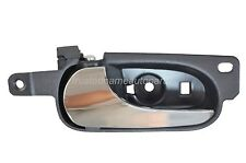 Interior Inner Inside Door Handle Black with Zinc Chrome Lever Driver Side Front