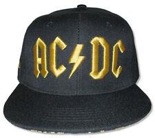 AC/DC-Mustard 3D Logo-Black OSFA Snap Back Baseball Cap