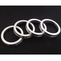 4 Aluminium Spigot Rings 57.1mm - 65.1mm VW AUDI SEAT