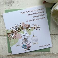 Handmade Personalised Wedding Card Daughter in Law Son in Law Niece Sister