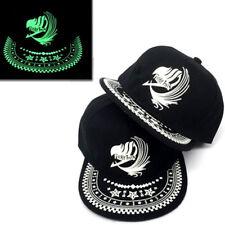 Glow In Dark Fairy Tail Guild Lucy Plain B-boy Baseball Cap Hip-Hop Hat Snapback