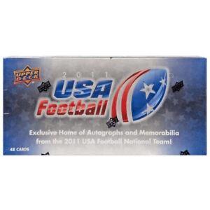 2011 Upper Deck USA Football Hobby Box Set - 3 Hits Per Box