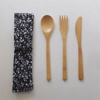 Bamboo Flatware Set Dishwasher-Safe Fork Spoon Knife Bamboo Flatware S