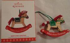 HALLMARK KEEPSAKE ORNAMENT BABY'S FIRST CHRISTMAS ROCKING HOBBY HORSE NIB 2