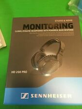 Sennheiser HD 200 Pro Studio Headphones (Closed) Immaculate w/Full Warranty