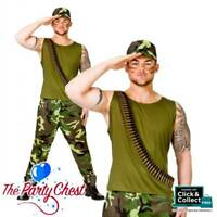 Ladies Mens Army Soldier Military G.I Jane Rambo Fancy Dress Costume Accessories