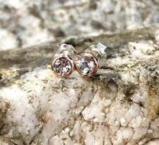 Clogau Silver & Rose Gold Celebration White Topaz Stud Earrings £45 OFF!