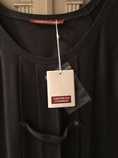 Charcoal Grey Knitted Comptoir des Cotonniers Pleated Dress / Tunic: Size XL