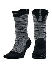 Nike Elite Versatility Basketball Socks Grey Black SX5376 060 Men's Large 8-12