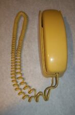 Vintage WESTERN ELECTRIC TRIMLINE CS224A YELLOW Push Button Dial Wall Telephone