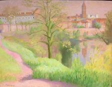 Juan Bonafe oil painting 1942 Montauban France landscape Peruvian artist Peru