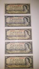 BANK OF CANADA 1954- 5- $ 20, CANADIAN BANK NOTES SELLING 1 NOTE FOR $40