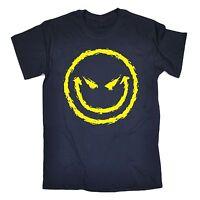 Evil Smiley Face T-SHIRT Cool Dj Attitude Rave Bad Demonic birthday fashion gift