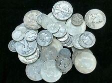 $10.00 U.S Silver 90% Coins Half Dollars Quarters Dimes Mixed Lot All Full Dates