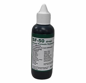 SF-50 drops vitamin supplement for dogs, cats, reptiles and more stress tonic