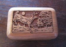 Carved Wooden Deer Trinket Box