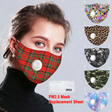 1-5X Reusable Mask With Breathing Valve PM2.5 Face Mask Filters Activated Carbon