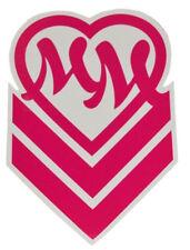 Metal Mulisha GIRLS CHEVRON SMALL Pink White MM Heart Logo 4Pc Sticker