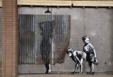 Banksy Woman showering Ed.300 Printed Signature Ed.number pencil Italy