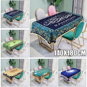 Eid Mubarak Ramadan Muslim Dining Table Cloth Waterproof Table Cover Home  NEW