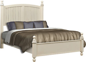Amish Farmhouse Panel Bed Shiplap Bead Board Solid Wood King Queen Catalina