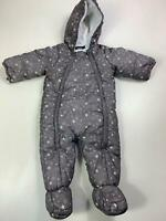 BOYS UNISEX IN EXTENSO GREY PADDED WINTER ALL IN ONE SNOW SUIT KIDS SIZE 97 CM