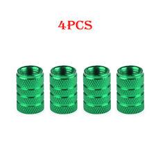 4x Aluminum Piston Tire/Rim Valve/Wheel Air Port Dust Cover Stem Cap/Caps Green