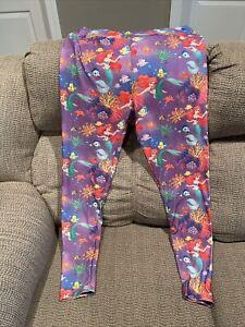 Disney Little Mermaid Ariel Flounder Womens  Leggings TC Buttery Soft