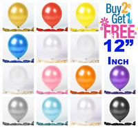 """12"""" METALLIC Pearlised High Quality LATEX 20 BALLOONS (Decoration/Brthday/Party)"""